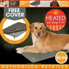 K&H Deluxe Lectro-Kennel Indoor Heated Dog Bed Crate Garage Home | KH1029 LARGE