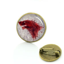 GAME OF THRONES STARK SHIELD PIN DIRE WOLF Cosplay collectible gift US seller