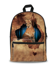 Backpack Lightweight - Kangaroo Image   (with Free Pencil Case $7 value)