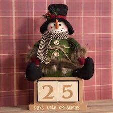 Festive Snowman Christmas Countdown Wooden Calendar