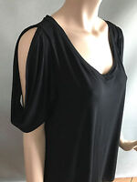 BNWT Womens Sz 20 Autograph Brand Smart Black Cold Shoulder Style Top RRP $30