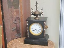 Antique 19 c Japes Freres Mantel Marble Clock with Topper France- RESTORE
