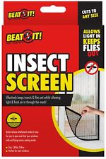Window Insect Bug Fly Screen Mesh Net Wasp Bee Hook Loop Fixing Tape Moth