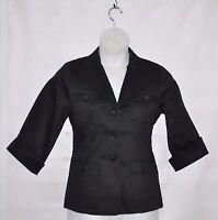 Linea by Louis Dell'Olio Stretch Sateen Blazer Size L Black