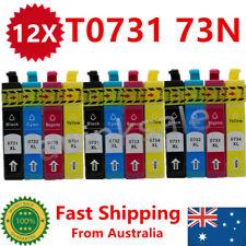 12x Ink Cartridge 73N T0731 0731 for Epson Stylus TX110 CX5500 NX220 TX410 TX610