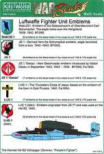 Kits World Decals 1/72 & 1/48 LUFTWAFFE FIGHTER UNIT EMBLEMS Part 1