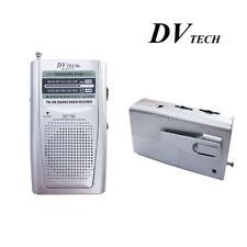 Radio Portátil de Bosillo Clip Cinturón DVTECH DV-742 Dos Bandas AM/FM Pila AAA