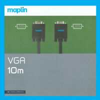 Maplin VGA 10m Cable High Definition Picture, 1080p Resolution For PC's And TV's