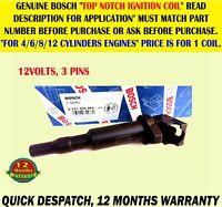 0221504464 BOSCH IGNITION COIL FOR BMW MINI DS CITROEN PEUGEOT