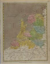 OLD ANTIQUE MAP HOLLAND NETHERLANDS c1807 ENGRAVING by KIRKWOOD for C MITCHEL