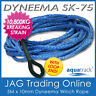 5M x 10mm H/DUTY DYNEEMA SK75 SYNTHETIC ROPE & LOOP - Spectra/4x4/Trailer/Winch