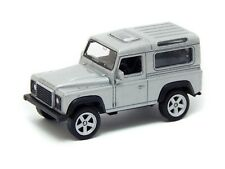 Land Rover Defender, Silver, Welly NEX Series 1:60 1:64 No. 52367 3-inch Toy Car