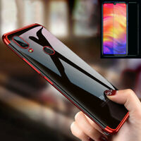 For Xiaomi Redmi Note 7 360° Full Protective Clear Case Cover+ Tempered Glass
