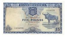 ZAMBIA 5 POUNDS 1964