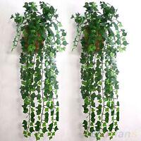 Accueil feuillage vert lierre feuille Fleur artificielle fleur guirlande décor B