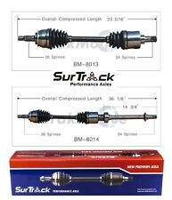 For Mini Cooper 02-08 Supercharged FWD Pair of Front CV Axle Shafts SurTrack Set