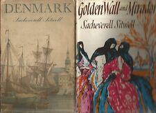 GOLDEN WALL & MIRADOR + DENMARK by SACHEVERELL SITWELL 1956 1st editions 2 BOOKS