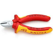 Knipex 125mm Mini Diagonal/Side Cutters 1000V VDE Insulated 70 06 125