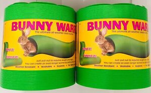 SNUGGLE SAFE ALL WEATHER EXTENDABLE RABBIT, BUNNY WARREN X2 TWIN PACK 760mm