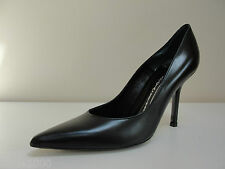 Belladonna black leather courts with patent heels, UK 7/EU 40, RRP £189, BNWB