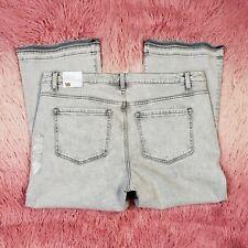 eb3039350 Lane Bryant Girlfriend Cropped Jeans Stretch Raw Hem Size 18 (38x25)