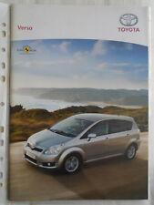 Toyota VERSO GAMA FOLLETO Nov 2008