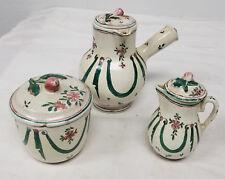 Antique Vintage European Majolica Maiolica Faience Pottery Tea Set Marked SX