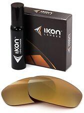 Polarized IKON Iridium Replacement Lenses For Oakley Split Jacket 24K Gold