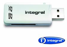 Integral AMINCRSD SD Secure Digital Single Slot Reader, Frustration-Free - White