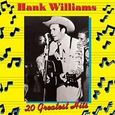 CD HANK WILLIAMS 20 GREATEST HITS LOVESICK BLUES WEDDING BELLS DEAR JOHN ETC