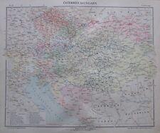 Österreich-Ungarn - 35x29cm Karte aus 1913 old map