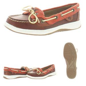 Sperry Women's Angelfish Varsity Leather Moc Toe Slip On Boat Shoes