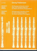 Georg Triebensee - 24 Übungen in Variationsform für Oboe und Violine