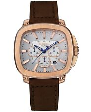 Breil Milano Men's Chronograph Brown Leather Strap Watch 45mm TW1315
