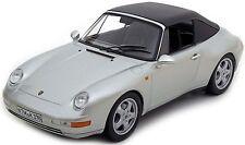 NOREV 187592 PORSCHE 911 Carrera Cabriolet 1993 ARGENTO 1:18 Nuovo/Scatola Originale