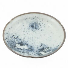 "4x Japanese 4""Rabbit/Moon Small Plates #160-028"