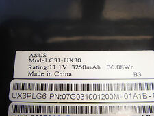 Batterie D'ORIGINE ASUS C31-UX30 NEUVE en France Genuine Original Battery ACCU