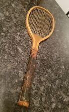 Antique Wooden Fantail 1900's Tennis Racquet no brand