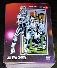 1992 Impel Marvel Universe - Silver Sable #65 - Many Non Sport Cards Available