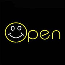 """Open Smile 17""""x8"""" Neon Sign Light Lamp Beer Bar With Dimmer"""