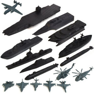 17 pcs Carrier Battle Group Warship Submarine Airplane Helicopter Toy Models