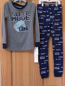 New Carter's Boys Video Game Pajama set Gray Navy Blue Snug Fit  many sizes