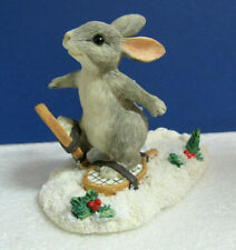 Charming Tails Binkey Snow Shoeing Silvestri Winter Rabbit Figurine