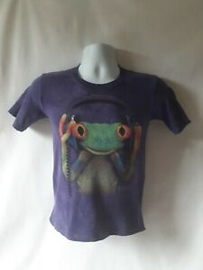 The Mountain boys purple tree frog short sleeve graphic t-shirt size M