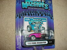 MUSCLE MACHINES '32 FORD ROADSTER 03-19 MAGENTA MIP FREE USA SHIPPING