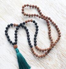 Lava Rudraksha Natural stone beads 8 mm mala 108 men yoga meditation necklace