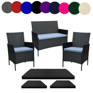 Replacement 3 Piece Cushion Set For Rattan Garden Patio Furniture Set