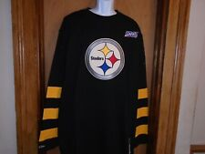 Pittsburgh Steelers Mitchell & Ness Men's Long Sleeve 100th Shirt 2XLT 4XLT NWT
