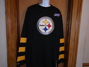 Pittsburgh Steelers Mitchell & Ness Long Sleeve 100th Shirt XLT 3XLT 4XLT NWT