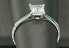 1ct Solitaire DIAMOND BRIDAL ENGAGEMENT RING WHITE GOLD Finish 6